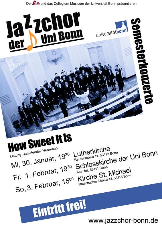 Jazzchor Abschlusskonzerte Januar 2013